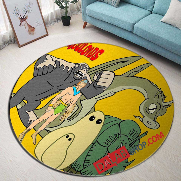 Cartoon Movies The Herculoids d 3D Customized Personalized Round Area Rug