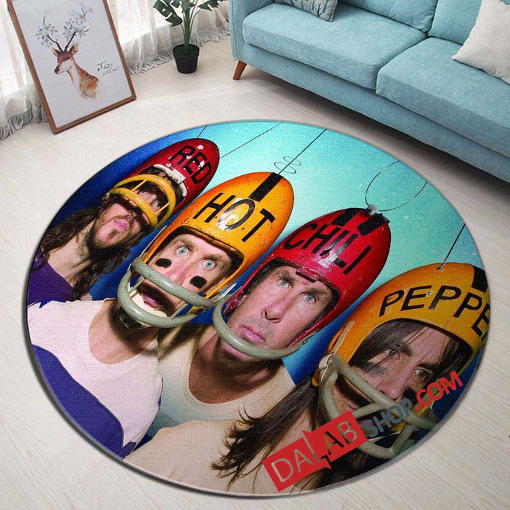 Musical Artists '80s Red Hot Chili Peppers 2N 3D Customized Personalized Round Area Rug