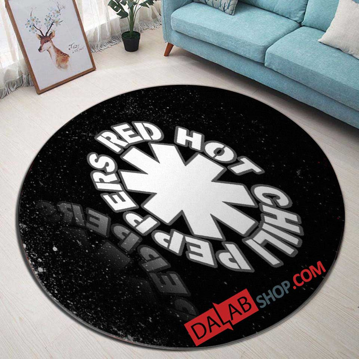 Musical Artists '80s Red Hot Chili Peppers 1D 3D Customized Personalized Round Area Rug