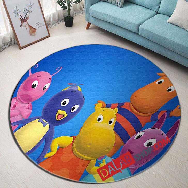 Cartoon Movies The Backyardigans n 3D Customized Personalized Round Area Rug