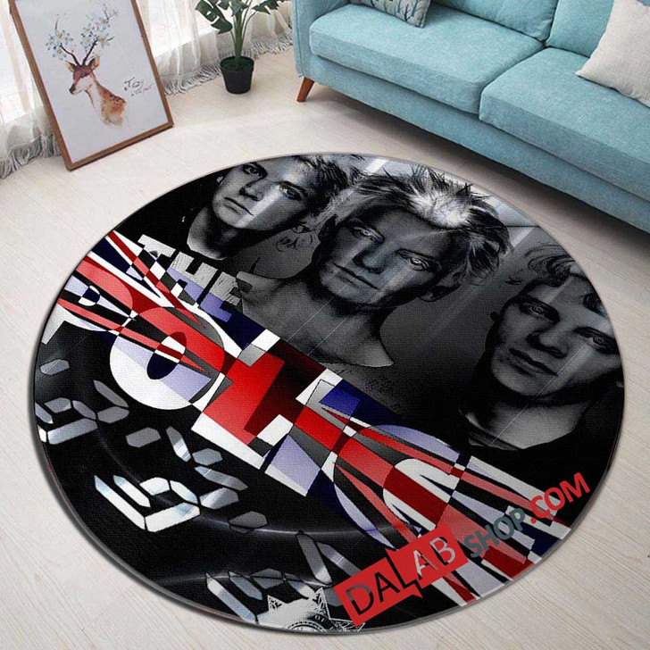Musical Artists '80s The Police3V 3D Customized Personalized Round Area Rug