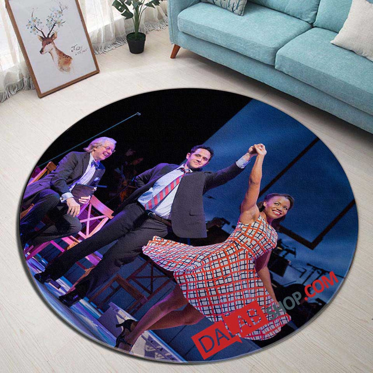 1776 Broadway Show V 3D Customized Personalized Round Area Rug