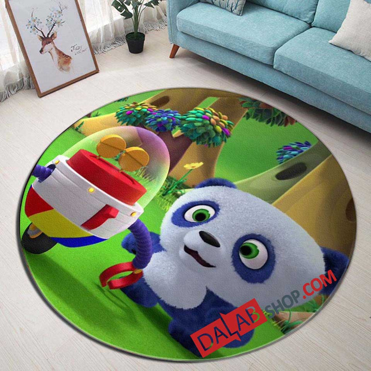 Cartoon Movies Ruff-Ruff Tweet and Dave V 3D Customized Personalized Round Area Rug