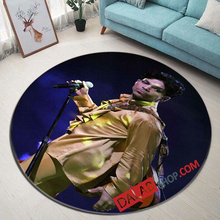 Musical Artists '80s Prince3D 3D Customized Personalized Round Area Rug