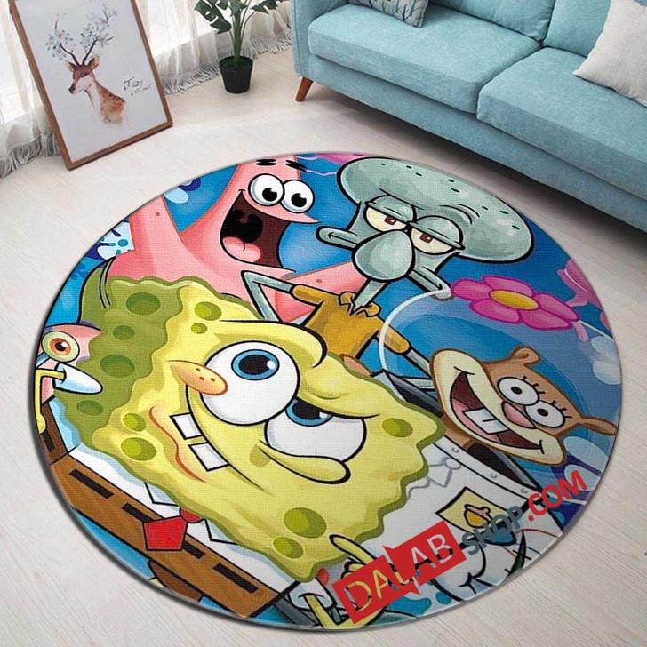 Cartoon Movies SpongeBob SquarePants D 3D Customized Personalized Round Area Rug