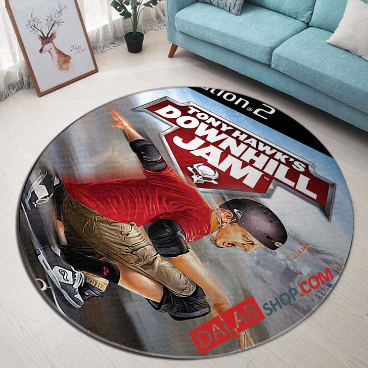 Aggressive Inline PS2 GAME D 3D Customized Personalized Round Area Rug