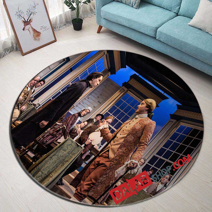 1776 Broadway Show N 3D Customized Personalized Round Area Rug