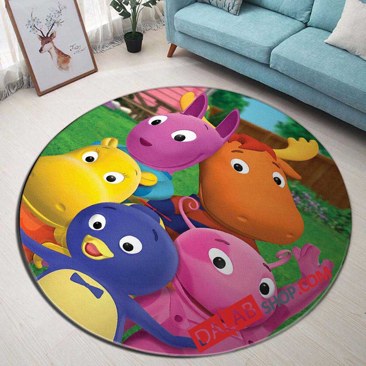 Cartoon Movies The Backyardigans d 3D Customized Personalized Round Area Rug