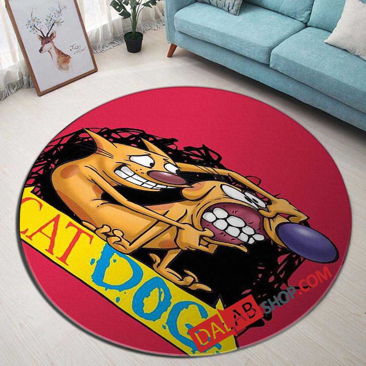 Cartoon Movies CATDOG D 3D Customized Personalized Round Area Rug