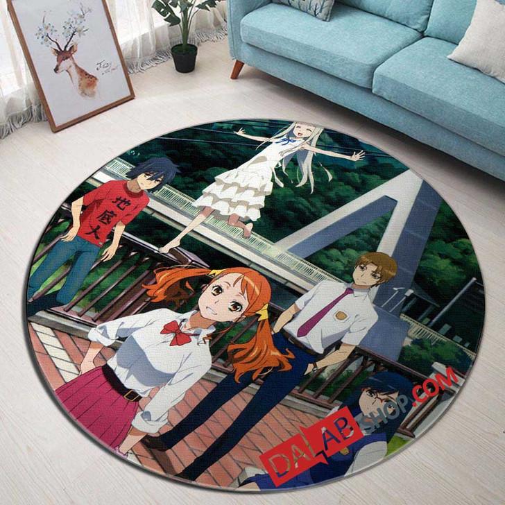Anime Ano Hi Mita Hana no Namae wo Bokutachi wa Mada Shiranai v 3D Customized Personalized Round Area Rug