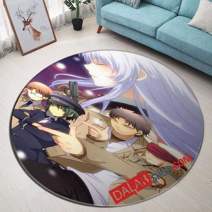 Anime Angel Beats d 3D Customized Personalized Round Area Rug