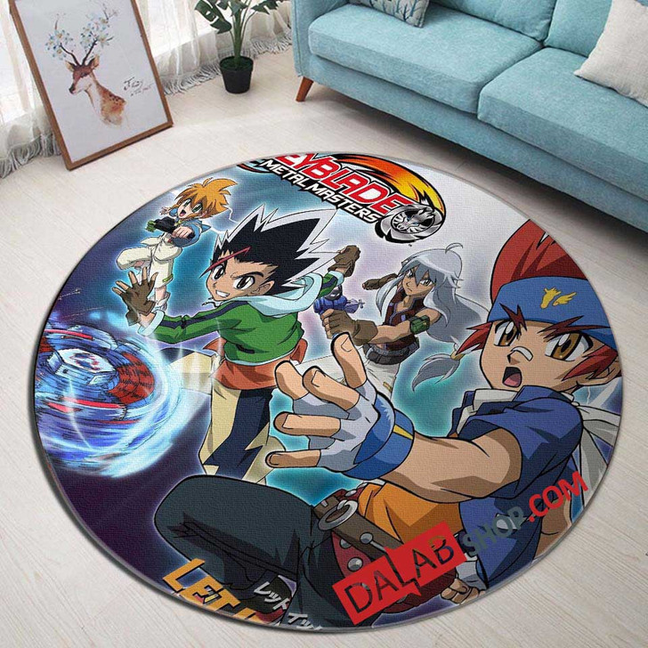 Cartoon Movies Beyblade V 3D Customized Personalized Round Area Rug