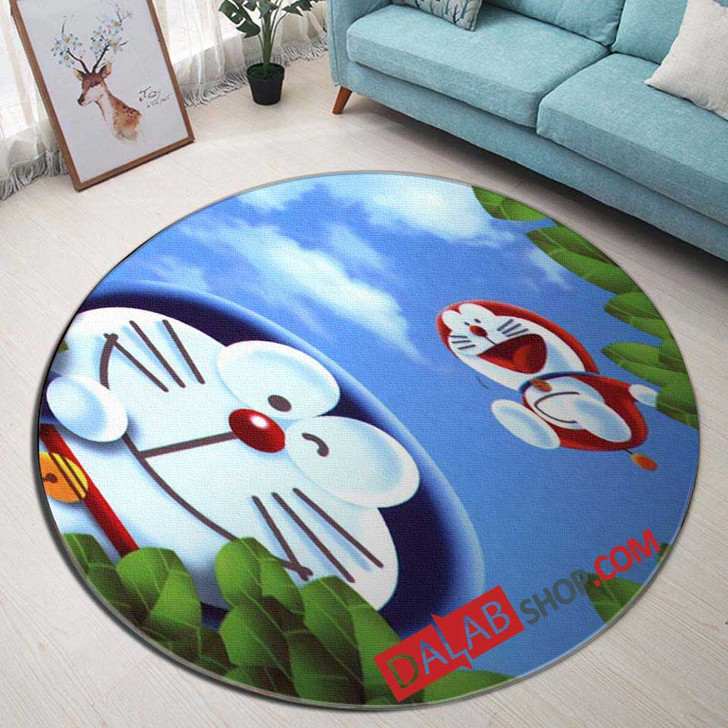 Cartoon Movies Doraemon D 3D Customized Personalized Round Area Rug