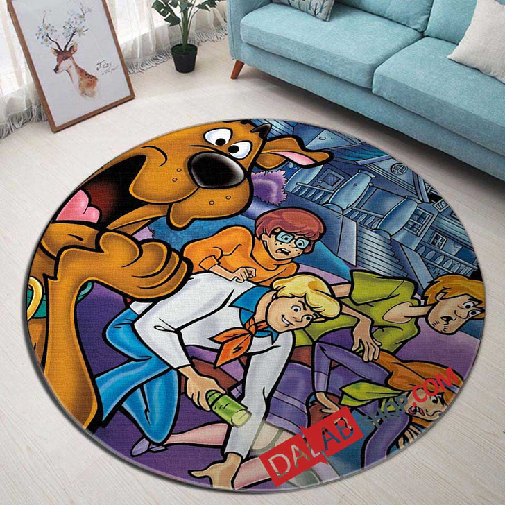 Cartoon Movies Scooby-Doo and the Alien Invad V 3D Customized Personalized Round Area Rug