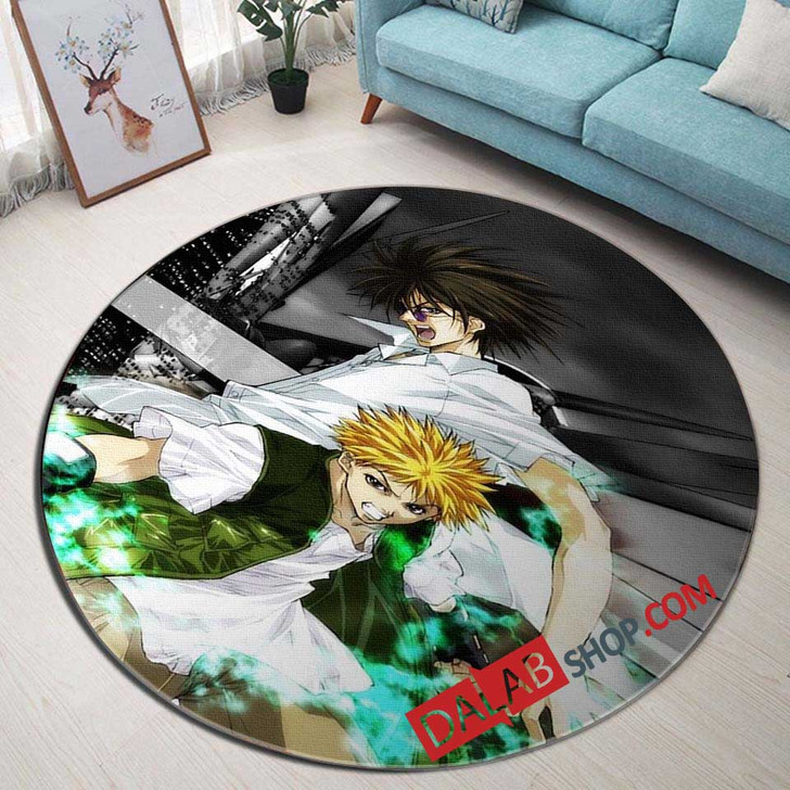 Cartoon Movies GetBackers D 3D Customized Personalized Round Area Rug