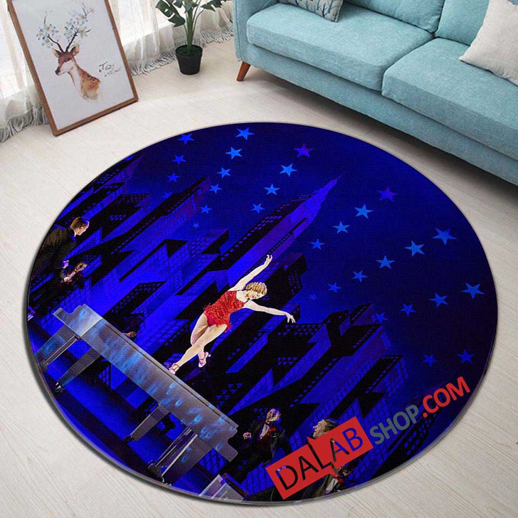 42nd Street Broadway Show V 3D Customized Personalized Round Area Rug
