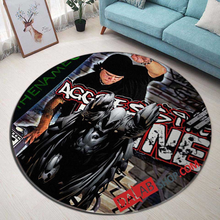 Aggressive Inline PS2 GAME 3D Customized Personalized Round Area Rug