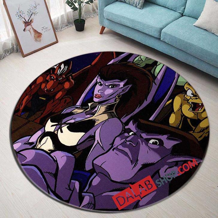 Cartoon Movies Gargoyles V 3D Customized Personalized Round Area Rug