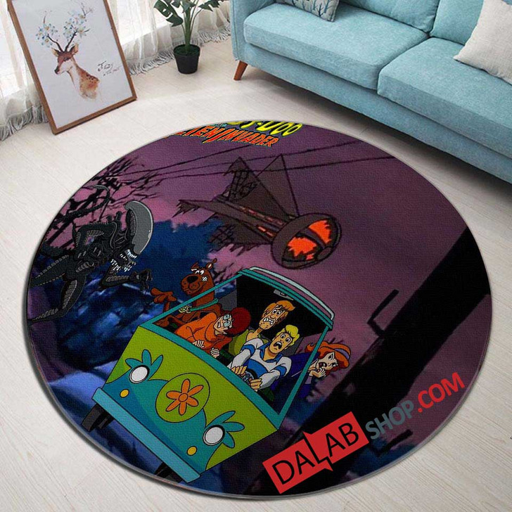 Cartoon Movies Scooby-Doo and the Alien Invad N 3D Customized Personalized Round Area Rug