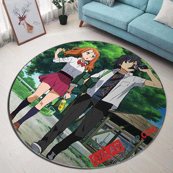 Anime Ano Hi Mita Hana no Namae wo Bokutachi wa Mada Shiranai d 3D Customized Personalized Round Area Rug