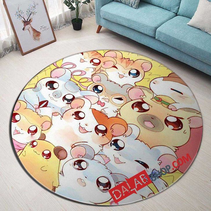 Cartoon Movies Hamtaro d 3D Customized Personalized Round Area Rug