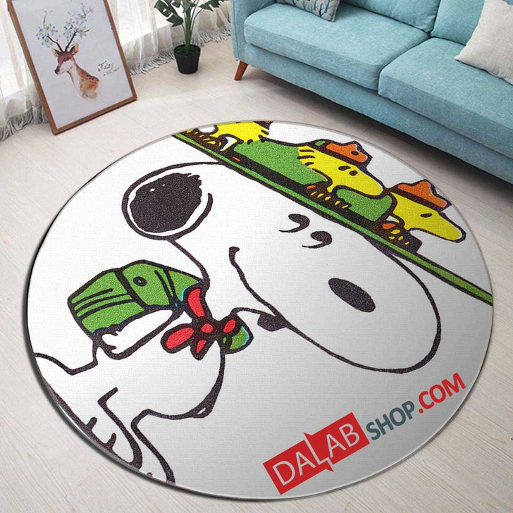 Cartoon Movies The Beagles D 3D Customized Personalized Round Area Rug
