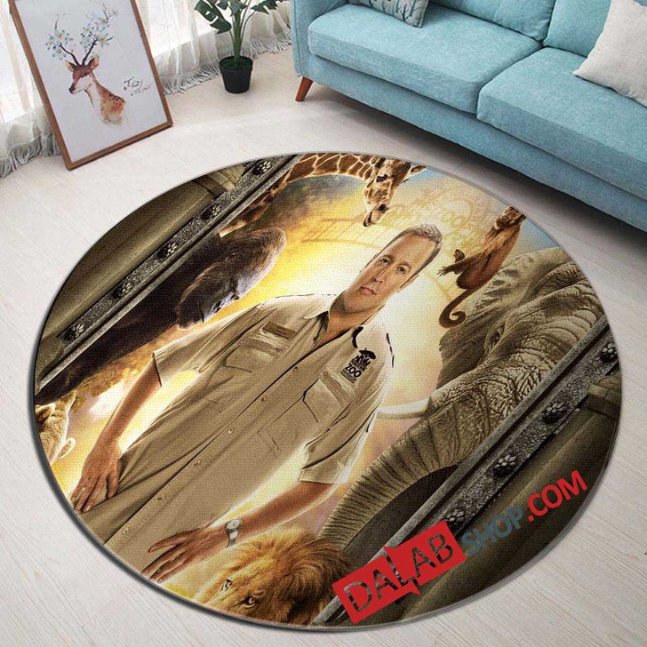 Netflix Movie Zookeeper n 3D Customized Personalized Round Area Rug
