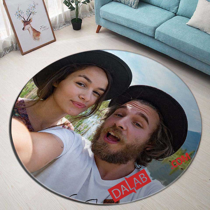 Movie Expedition Happiness V 3D Customized Personalized Round Area Rug