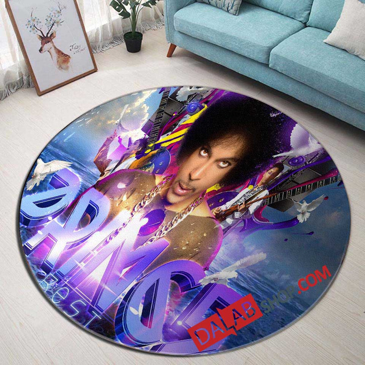 Musical Artists '80s Prince1N 3D Customized Personalized Round Area Rug