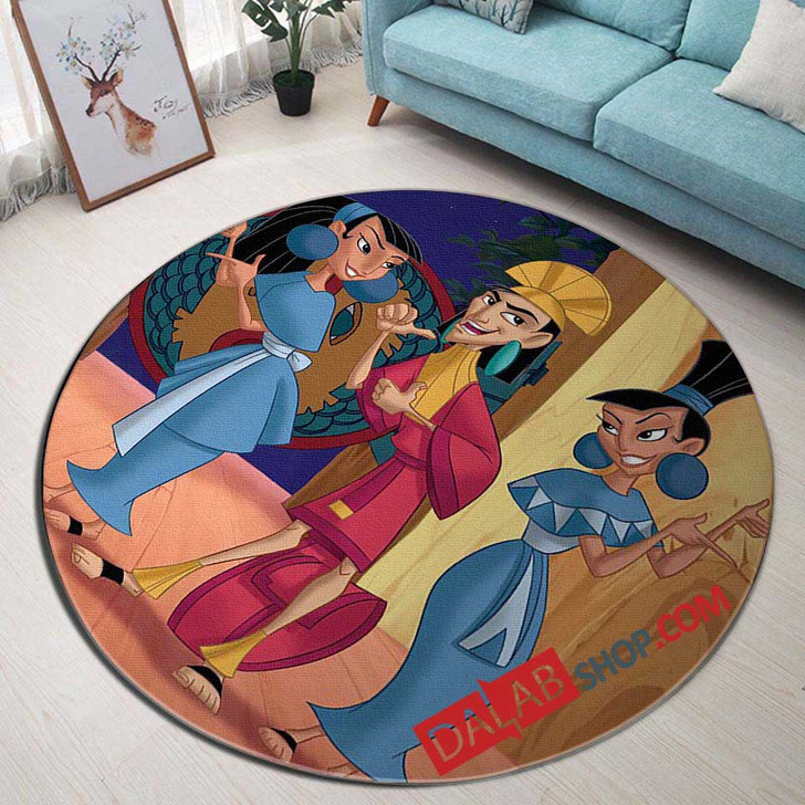 Movie Kronk's New Groove d 3D Customized Personalized Round Area Rug