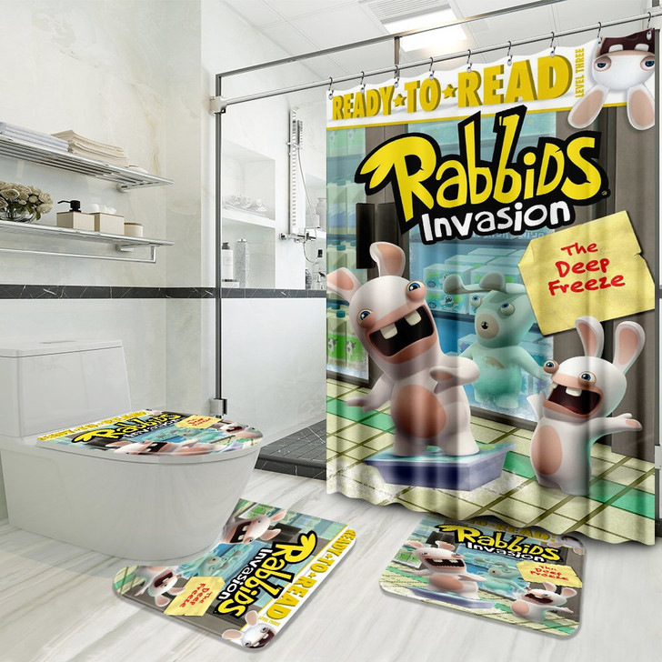 Ready-to-read Rabbids Invasion 3D Customized Personalized Bathroom Sets