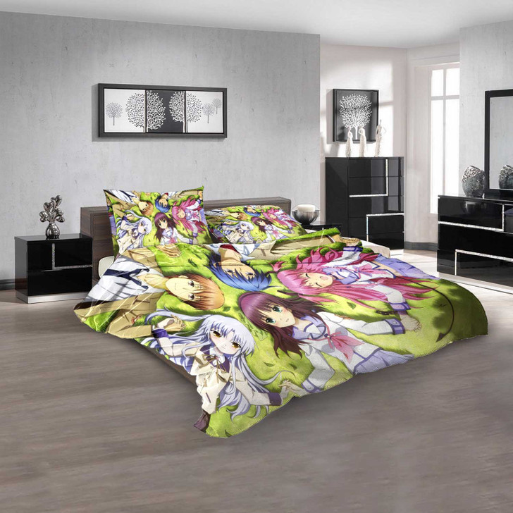 Cartoon Movies Angel Beats! N 3D Customized Personalized  Bedding Sets