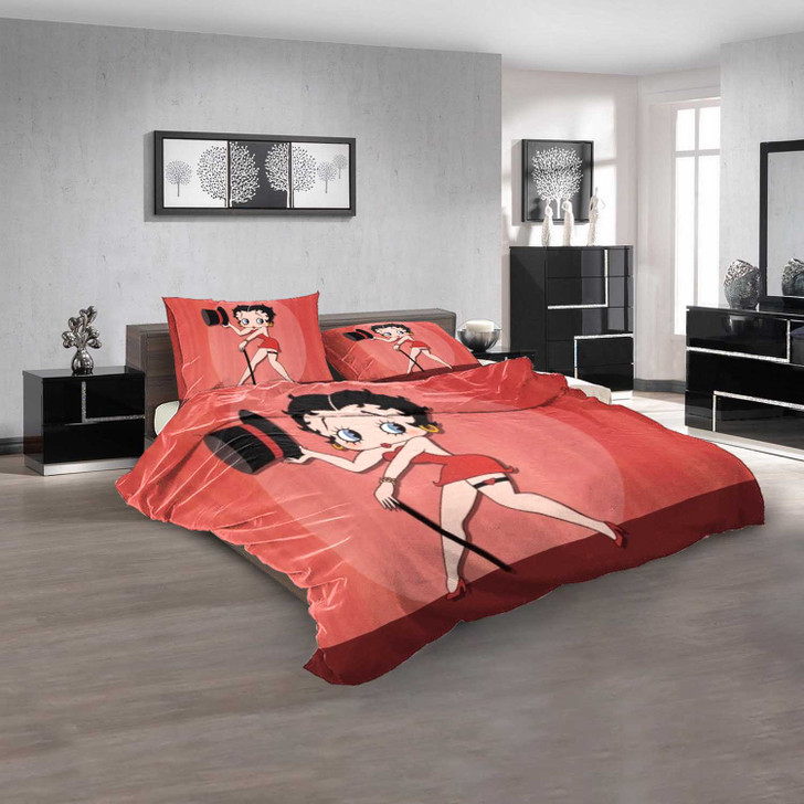 Cartoon Movies Betty Boop V 3D Customized Personalized  Bedding Sets