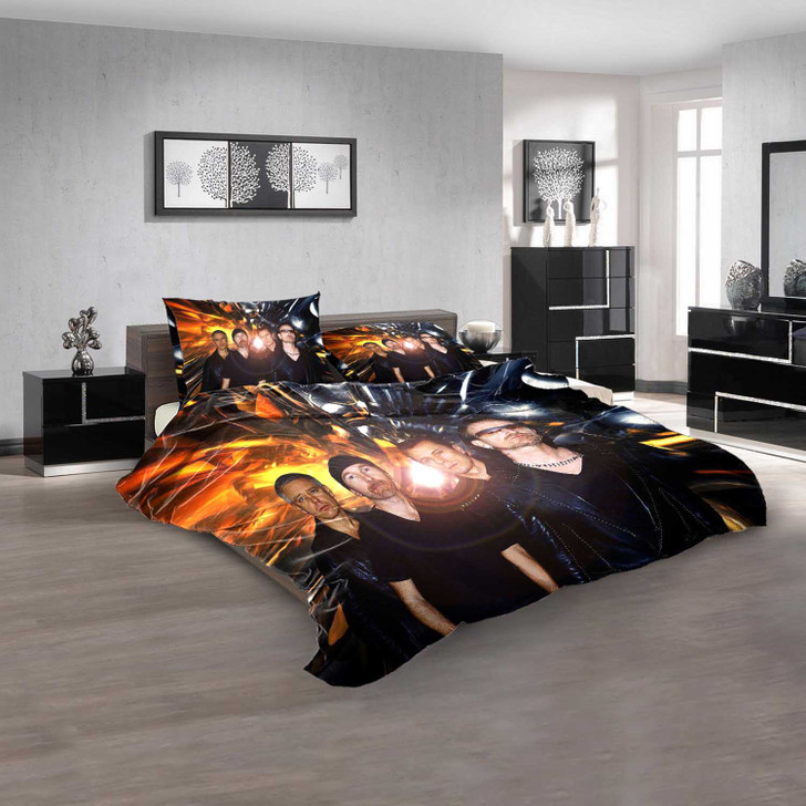 Musical Artists '80s U2 3V 3D Customized Personalized  Bedding Sets