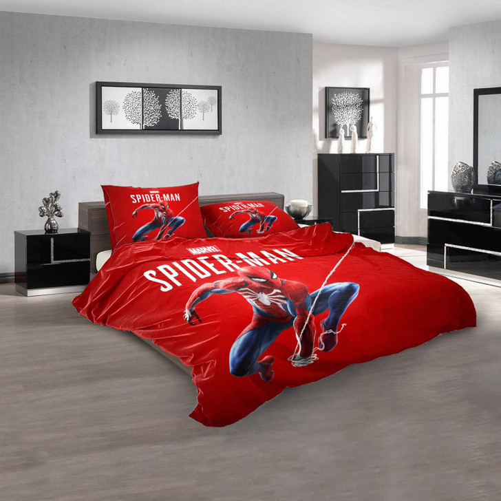 Cartoon Movies Spider-Man and His Amazing Fri V 3D Customized Personalized  Bedding Sets