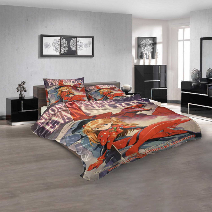 Netflix Movie The End of Evangelion d 3D Customized Personalized  Bedding Sets