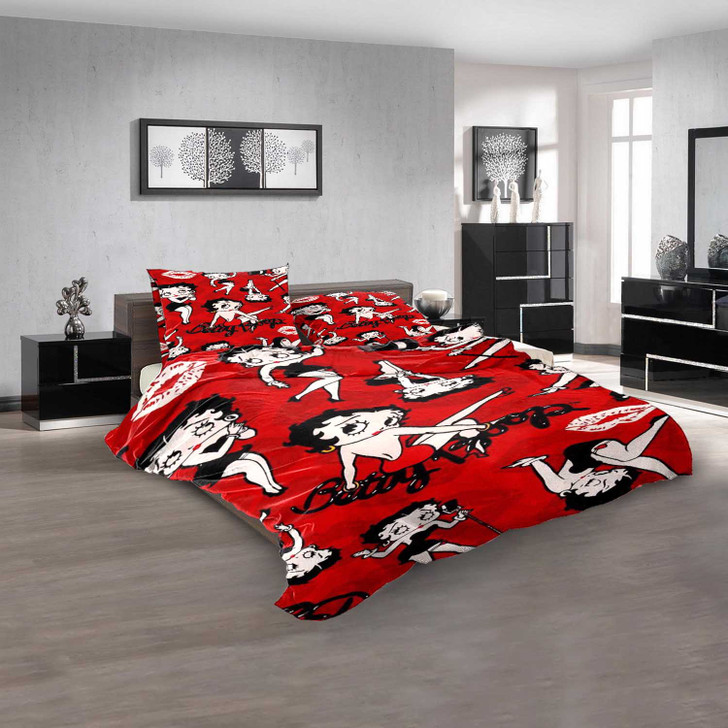 Cartoon Movies Betty Boop D 3D Customized Personalized  Bedding Sets