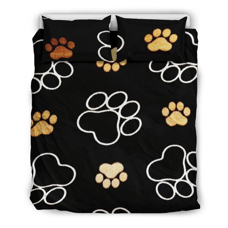 Dog Paw Bedding Set