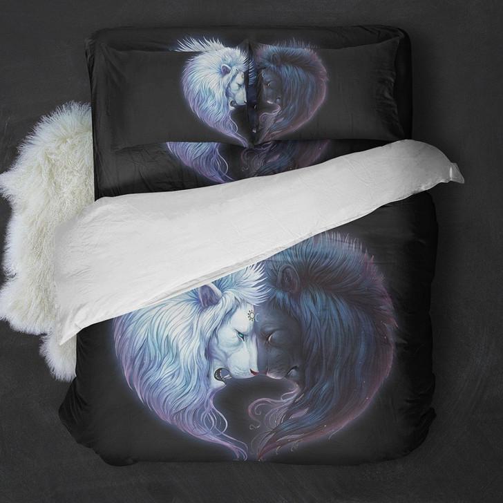 Lion Couple Bedding Set
