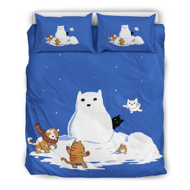 SNOW CAT BEDDING SET