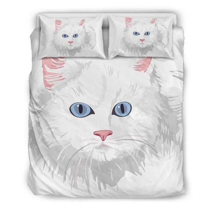 White Cat Bedding Set