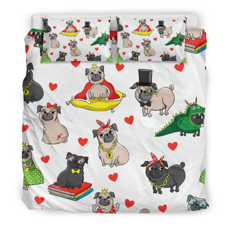 Cute Pug Bedding Set