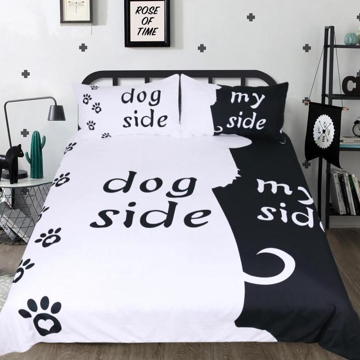 Dog Side, My Side Bedding Set