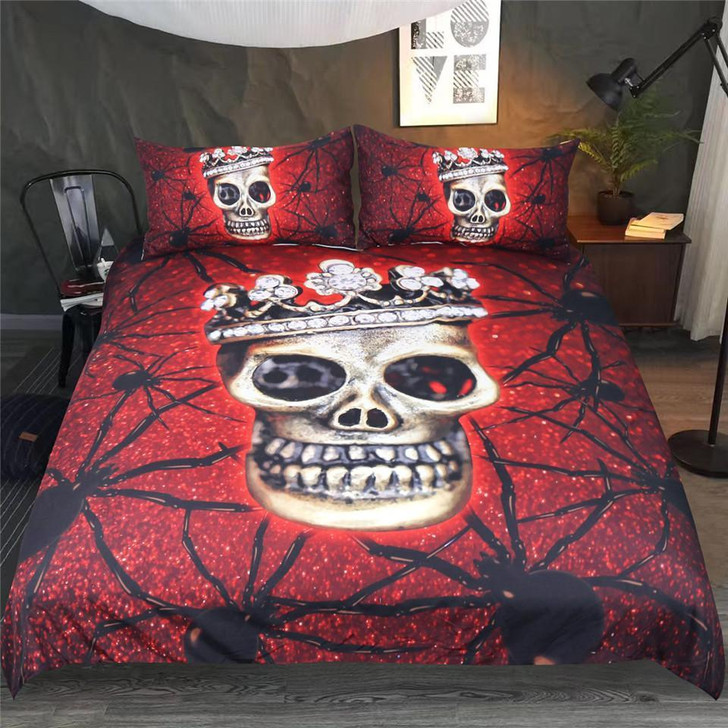 Crown Skull Bedding Set