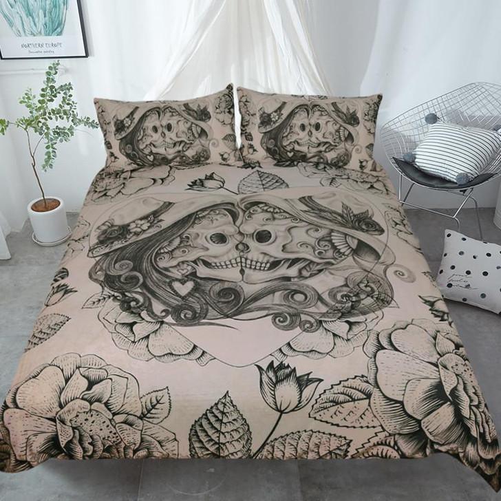 Skull Couple Bedding Set