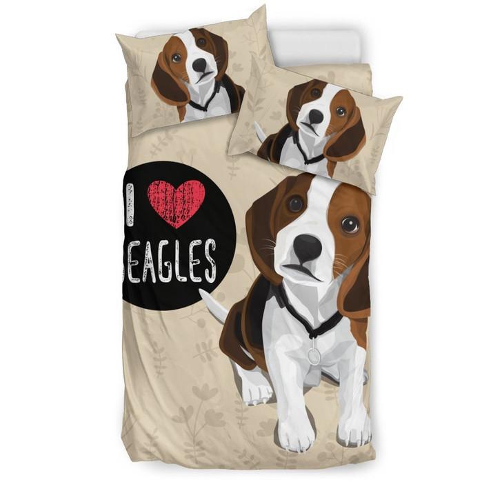 I Love Beagles  for Lovers of Beagle Dogs  GearWanta3D Customize Bedding Set/ Duvet Cover Set/  Bedroom Set/ Bedlinen