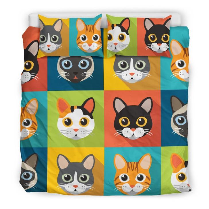 Cute Catsfor Cat Loverz3D Customize Bedding Set Duvet Cover SetBedroom Set Bedlinen