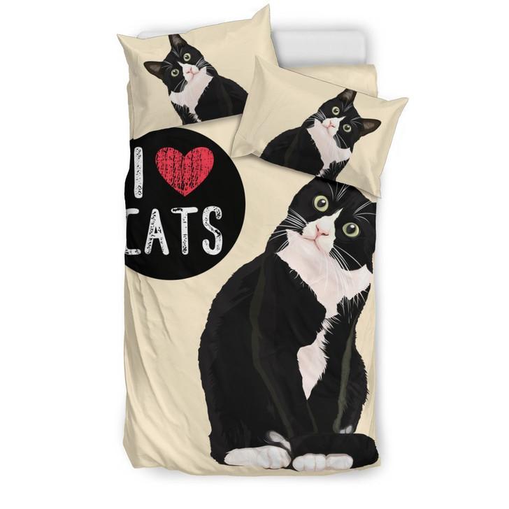 I Love Catsfor Cat Lovers3D Customize Bedding Set Duvet Cover SetBedroom Set Bedlinen