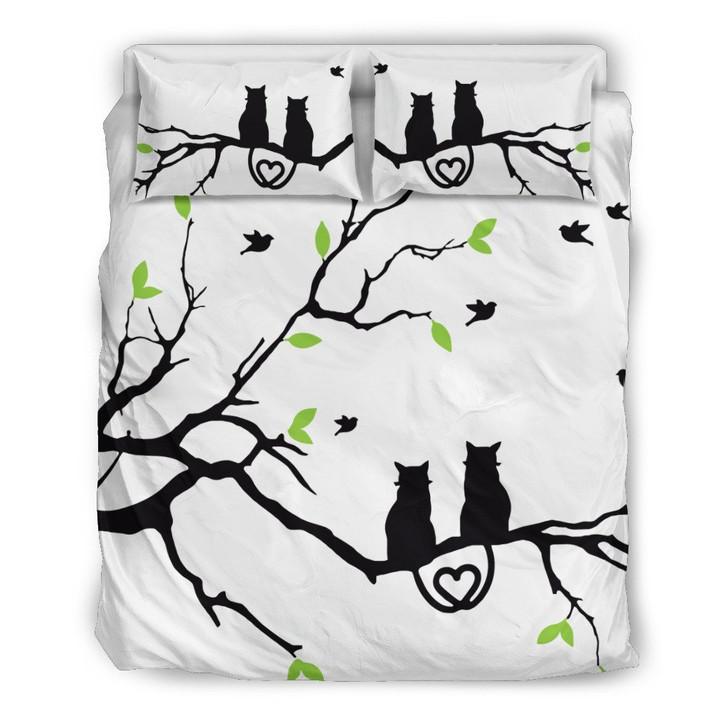 The Cat Love 3D Customize Bedding Set Duvet Cover SetBedroom Set Bedlinen