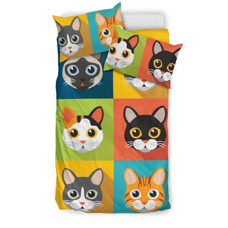 Cute Cats 3D Customize Bedding Set Duvet Cover SetBedroom Set Bedlinen